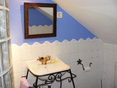 Proyecto baño buhardilla en Madrid. www.estudiosdecoracion.com