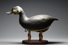 Contemporary Antique Ruddy duck. Hollow body, white cedar, rigged. Yves Laurent 2015