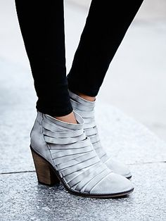 Hybrid Heel Boot. Love that color and the strappy detail!