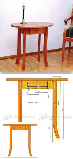 One-Drawer Side Table Plans - Furniture Plans and Projects | WoodArchivist.com