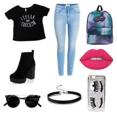 """""""Untitled #51"""" by pandita-heras on Polyvore featuring beauty, Vans, Lime Crime and Chiara Ferragni"""