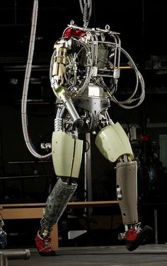 Boston Dynamics PETMAN Humanoid Robot/ love that this guy is wearing little red shoes