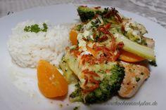kochennachplan.de : wieder ein leckeres Rezept aus meiner Diätküche ;) Hähnchen-Pfirsich-Auflauf mit Brokkoli und Reis.... sehr lecker