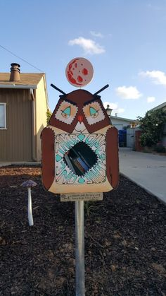 Cristina Gispert. San Diego, CA. This Little Free Library was designed to look like an owl because of its location near Tecolote Canyon (tecolote means owl in Nahuatl), the largest canyon in the City of San Diego. The design is loosely inspired by Tom Oreb's animated character designs and BCalla's fashion designs. I'm charmed and delighted every time I come across a Little Free Library in our area, and thought we could spread the love in our neighborhood by building one, too.