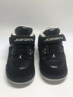 newest 103a8 d7863 Velcro Air Jordan Toddler Black Cement Silver Size 6C Flight  fashion   clothing  shoes