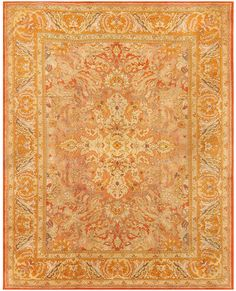 Antique Irish Rug 40419 By Nazmiyal Carpet Gallery in NYC c1900-  An Irish take on a Persian 'Polonaise' design (rugs originally believed to have come from Poland).