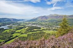 Keswick from Walla Crag in the Lake District National Park, Cumbria, England