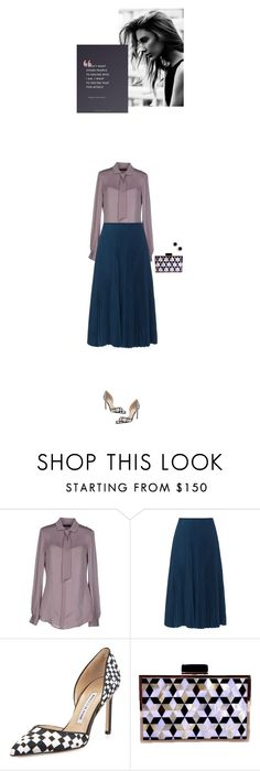 """""""Decide for myself"""" by blueeyed-dreamer ❤ liked on Polyvore featuring Dsquared2, Cédric Charlier, Manolo Blahnik, Kate Spade, Emma Watson, Pumps, pleatedskirt and polyvorecontest"""