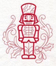 Doodle Nutcracker design (M10081) from www.Emblibrary.com
