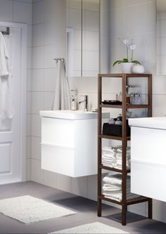Neutral Colors And Clean Lines Create A Peaceful Bathroom   Especially When  The Cabinets And Storage