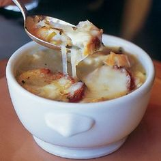 Riesling Onion #Soup with Herbed Croutons
