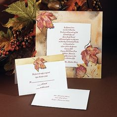 Pretty, simple, and outdoorsy! Perfect for a wedding in the woods. Autumn's Palette - Invitation
