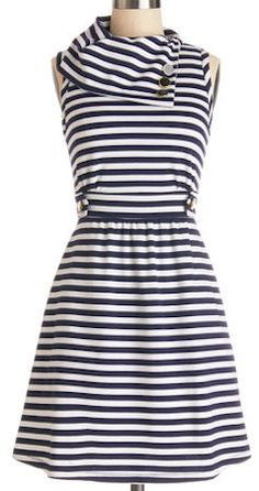 Pretty striped dress in #navy http://rstyle.me/n/g5r62nyg6