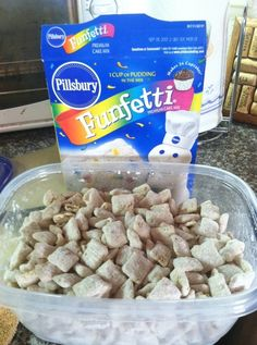 confetti puppy chow...scuse me while i go die. (っ◔◡◔)っ ♥