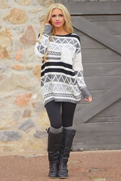 Curl Up By The Fire Sweater - Grey from Closet Candy Boutique