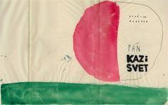 "Lubomir Blecha, poster design for children's puppet show ""Spoiler"", 1962, Regional theatre in Banská Bystrica, Czechoslovakia"