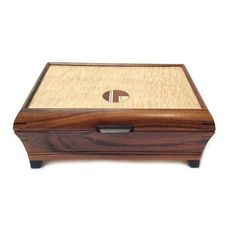 Mikutowski Woodworking - Bolivian Rosewood and Curly Maple Jewelry Box