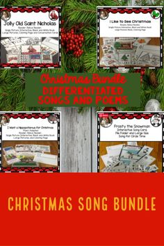 Christmas Bundle: Songs and Poems Differentiated, Interactive Crazy Holiday, Holiday Time, Frosty The Snowmen, Snowman, Christmas Speech Therapy, Hippopotamus For Christmas, Weird Holidays, English Language Learners, Saint Nicholas