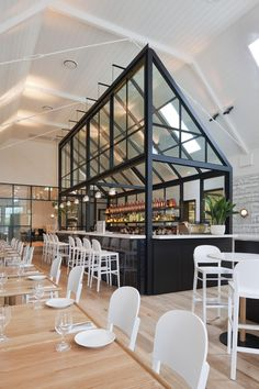 Old Church (1908) and Library (1970) owner Mario Kalpou worked with interior designers Hecker Guthrie to transform the library into its current incarnation as a restaurant in Cronulla, a suburb of Sydney, Australia.