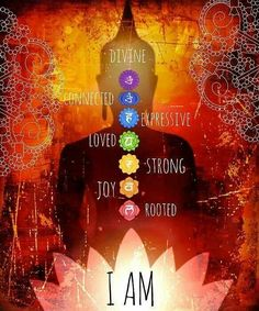 Chakras I AM  Rooted  Joy  Strong Loved  Expressive  Connected  Divine