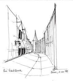 Rouen - ink drawing by Mugur Kreiss