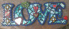 Mosaic word *LOVE* by PrayingMantis MosaicMagik