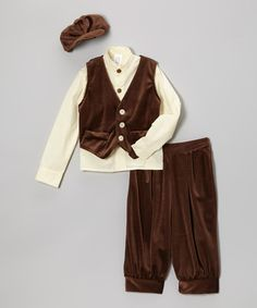 Take a look at this Brown Vest Set - Infant, Toddler & Boys by Elena Collection on #zulily today!