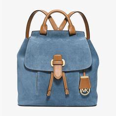 MICHAEL Michael Kors Romy Medium Suede Backpack Blue