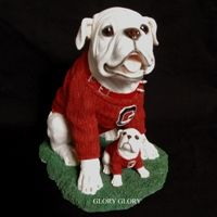 Glory Glory -- Georgia Bulldog Merchandise - UGA Georgia Bulldog Large Resin Proud Daddy Figurine