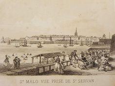 St Malo, Vintage World Maps, Saints, Brittany, War, Santos