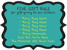 Birthing Me: The Five Gift Rule