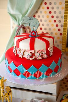 Food at a Vintage Circus Party {Made by a Princess Parties in Style}