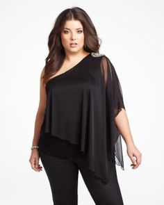 mxm one shoulder studded top Elle Fashion, Curvy Girl Fashion, Plus Size Fashion, Fashion Outfits, Addition Elle, Plus Size Inspiration, Just My Size, Evening Outfits, Beautiful Outfits