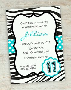 Want an easy way to get a cute invite for your daughters next