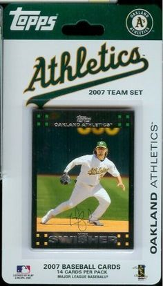 Topps Oakland A's 2007 Baseball Card Team Set by Topps. $2.49. The 2007 officially licensed Topps team set contains 14 A's player cards. This special limited edition production was not sold in foil packs and is only available in this format. Included are cards of top stars like Nick Swisher and Mike Piazza.