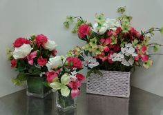 Floral Design, Floral Arrangement Set, 2014, by Renee Corbin: Michael's of Waynesville, NC