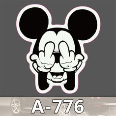 Cute Mickey Mouse waterproof stickers for Home decor Travel Suitcase Wall Bike fridge car sticker Sliding Plate Styling