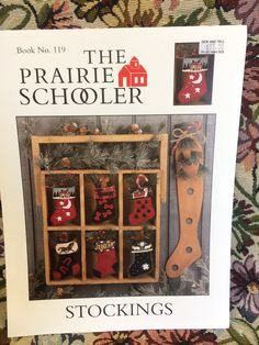 The Prairie Schooler - Book No. 119  STOCKINGS - Counted Cross Stitch Chart - Christmas Stocking by LousAtelier on Etsy