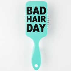 Bad Hair Day Brush ($6.99) ❤ liked on Polyvore featuring beauty products, haircare, hair styling tools, brushes & combs, hair, accessories, beauty, fillers, mint and brush comb