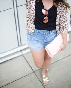 Perfect Summer Shorts via Mae Amor @Mae Nunez Madewell, H&M, LOFT, Ray-ban, Vera Bradley, American Eagle