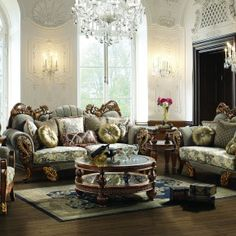 Inspiration Interior. Favored Blue Vintage Formal Living Room Furniture With Sofa Cushions As Well As Rounded Table On White Fur Rug Ideas And Furnishing Ideas: Immaculate Antique Rounded Table As Well As Classy Formal Living Room Furniture Sets And Seater As Well As Wall Lighting Decorate In Lu Ury Room Ideas