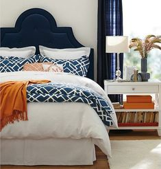 Navy with a Pop of Orange