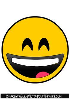 Free Printable Laughing Hard Emoji Photo Booth Prop
