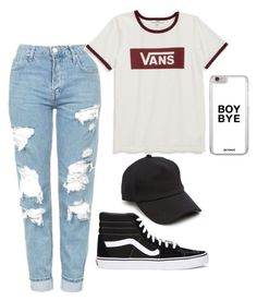 Boybye by gherasim-alicia on Polyvore featuring polyvore, fashion, style, Vans, Topshop, rag & bone and clothing