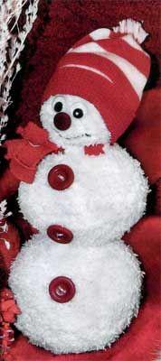 Fluffy Snowman for Christmas. How to make #Christmas
