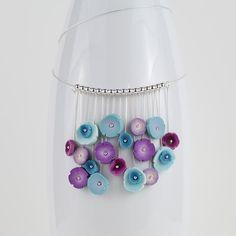 Karen Pasieka:  Latest #FlowerDots #necklace #SubtleDetails #LilBouquet #polymerclay #jewellery