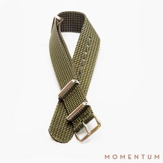 Army Green Nato available in Gold and Steel Buckle: http://momentum-dubai.com/collections/watch-straps/products/watch-strap-nato-army-green