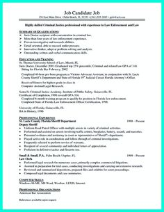 criminal justice resume uses summary section of the qualifications to highlight your experience from the previous - Criminal Justice Resume