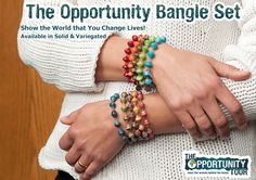 Show the world that you mean business when it comes to empowering women! The Opportunity Bangle Set represents the heart and soul of BeadforLife, creating opportunities for women a world away to work their way out of extreme poverty. $25