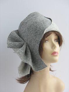 Шляпка из войлока. Дизайнерская шляпка.